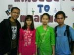 Bersama mahasiswa asal Myanmar